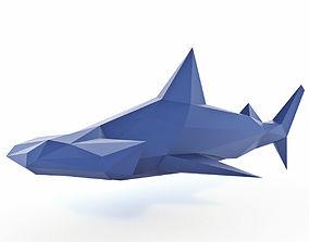 Hammerhead Shark Low Poly 3D model