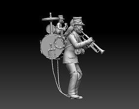 3D printable model man orchestra