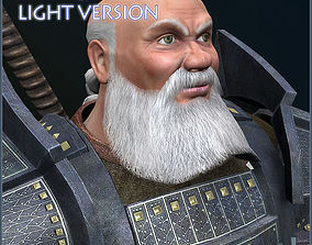 3D asset animated Dwarf Champion Light Version