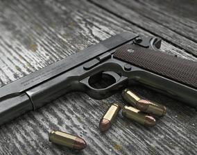 Colt 1911 Low Poly PBR 3D model realtime