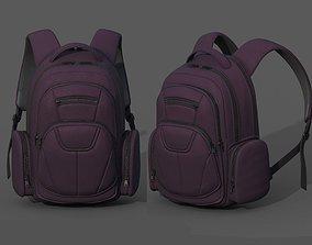 Backpack Camping Generic military human lugagge 3D asset 1
