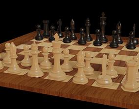 Chess game 3D asset