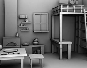 CARTOON ROOM 3D model realtime