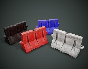 3D asset Used Traffic Barrier PBR Game Ready