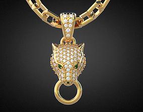 Panther gemstone pendant P13 3D print model