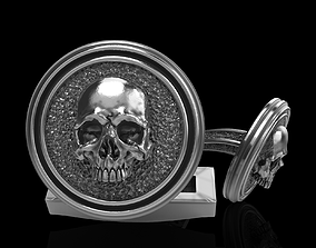skeleton 3D printable model skull cufflinks