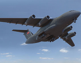 3D Xian Y-20 Transport Aircraft