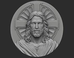 3D print model Medallion of Jesus no 1