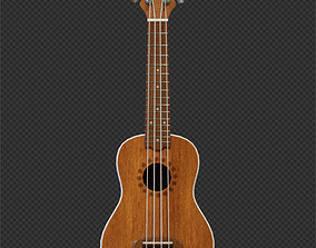 Ukulele or Hawaiian guitar 3D