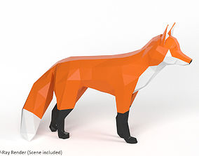 Low Poly Fox 3D asset VR / AR ready