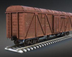 3D model Railroad Boxcar