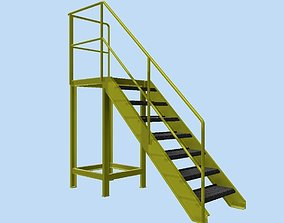 Stairs step 3D model
