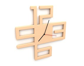 Loft parametric clock 3D