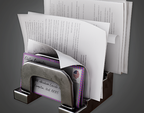 3D asset game-ready Paper Holder 02 - CLA - PBR Game Ready