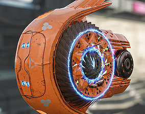 3D asset realtime sci fi drone
