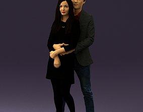 Man in gray hugs woman 0629 3D printable model