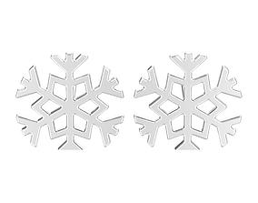 3D printable model Snowflake new year Christmas earrings
