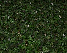 3D ground leaf tile 19