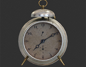 Old alarm clock in vintage style 3D model