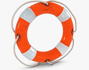 3D asset Orange Lifebuoy