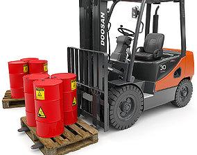 Forklift Doosan D30s 3D