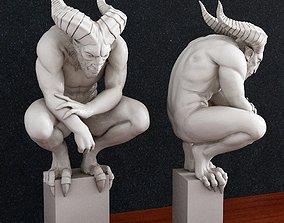 3D printable model gargoyle devil creature