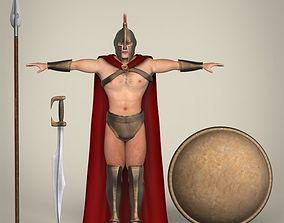 Realistic Spartan Warrior 3D