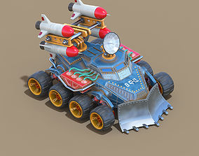 3D model Missile system unit for RTS game