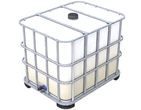 Caged IBC Tote 1 3D asset