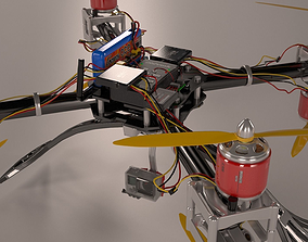 Drone component 3D model
