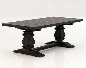3D Restoration Hardware Salvaged Tables