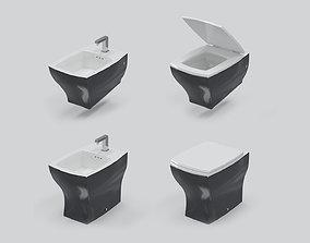 Toilet Set ArtCeram Jazz JZV001 01-05 3D