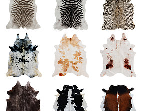 Nine Rugs From Animal Skins 08 3D model