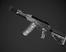 FPS AK-12 AAA PBR Game Ready Weapon Asset realtime