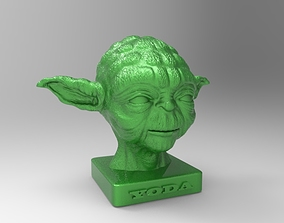 bust master yoda for 3d printing