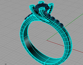 Solitaire Round 3D printable model 4