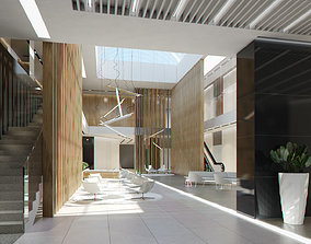 Lobby Hall Foyer Office commercial business 3D model 1