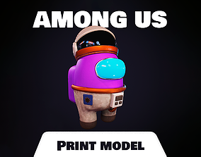 amongus Among us Print Model - Astronaut Skin