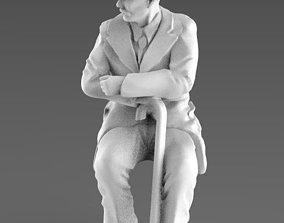 miniatures old man 3d model