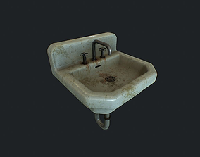 Sink Dirty pbr 3D model low-poly