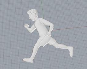 Running man emoji pendant 3D print model