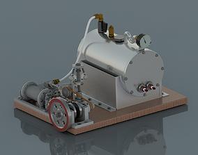 3D Steam Engine rendering