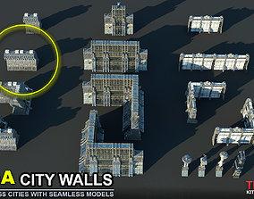 wall FREE MEGA CITY WALLS SCI-FI KITBASH 3D model