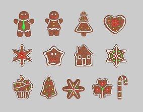 3D gingerbread cookies