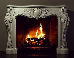3D printable model fireplace