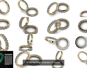 3D model 8 Eternity Rings Collection