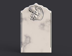 Baby angel tombstone 3D print model