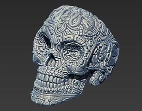 Mayan skull ring 3D print model
