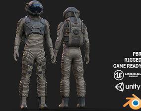3D asset SX01 Male Space Suit LITE VERSION