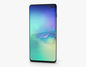 3D model Samsung Galaxy S10 Plus Prism Green